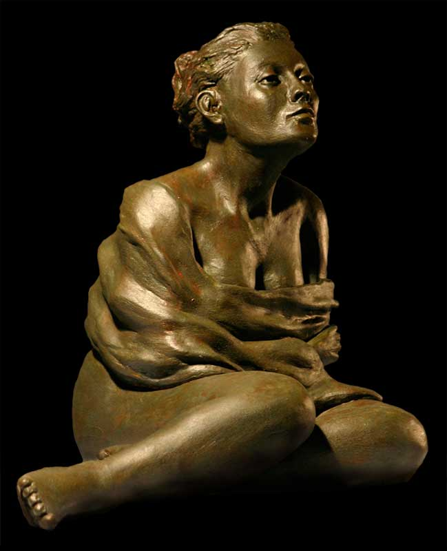 """After the Bath"" - sculpture by Gregory Fields"