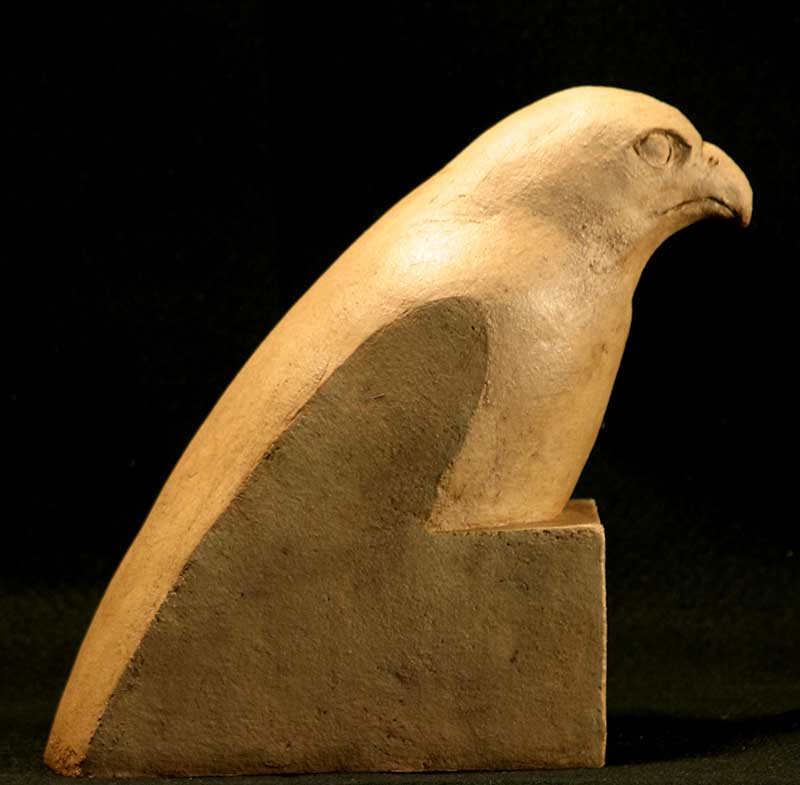 """Hawk"" - sculpture by Gregory Fields"
