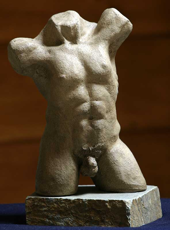 """Male Torso"" - sculpture by Gregory Fields"