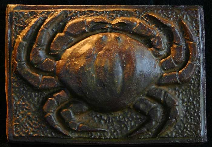"""Crab"" - ceramic tile by Gregory Fields"