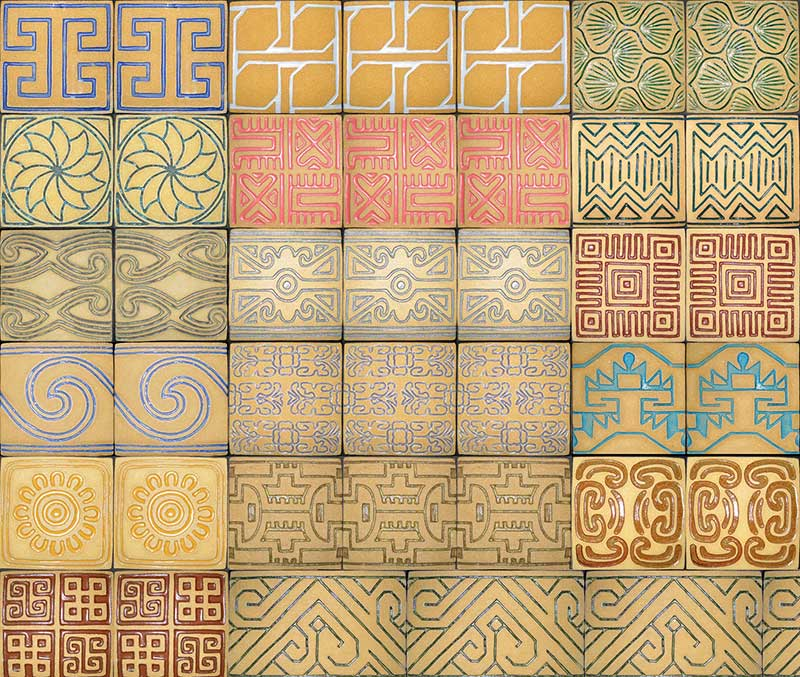 """Convergence"" - by Gregory Fields - sidewalk tiles"