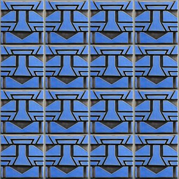 African Tile - Blue - field group