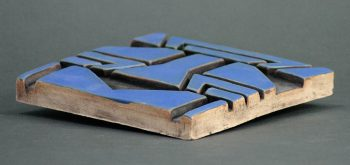 African Tile - Blue side view