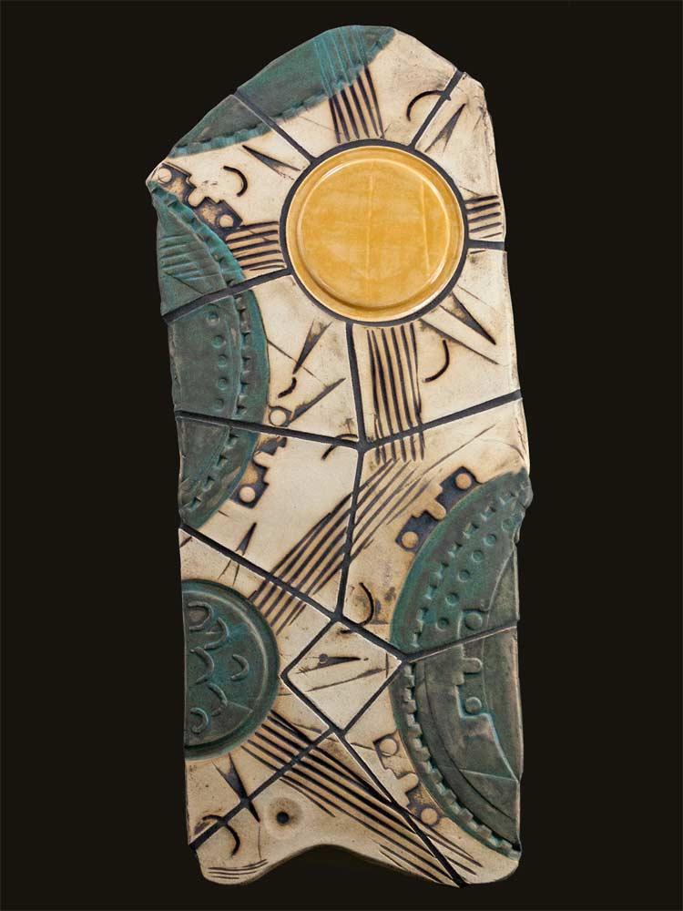 """""""Desert Sun"""" - wall sculpture by Gregory Fields"""