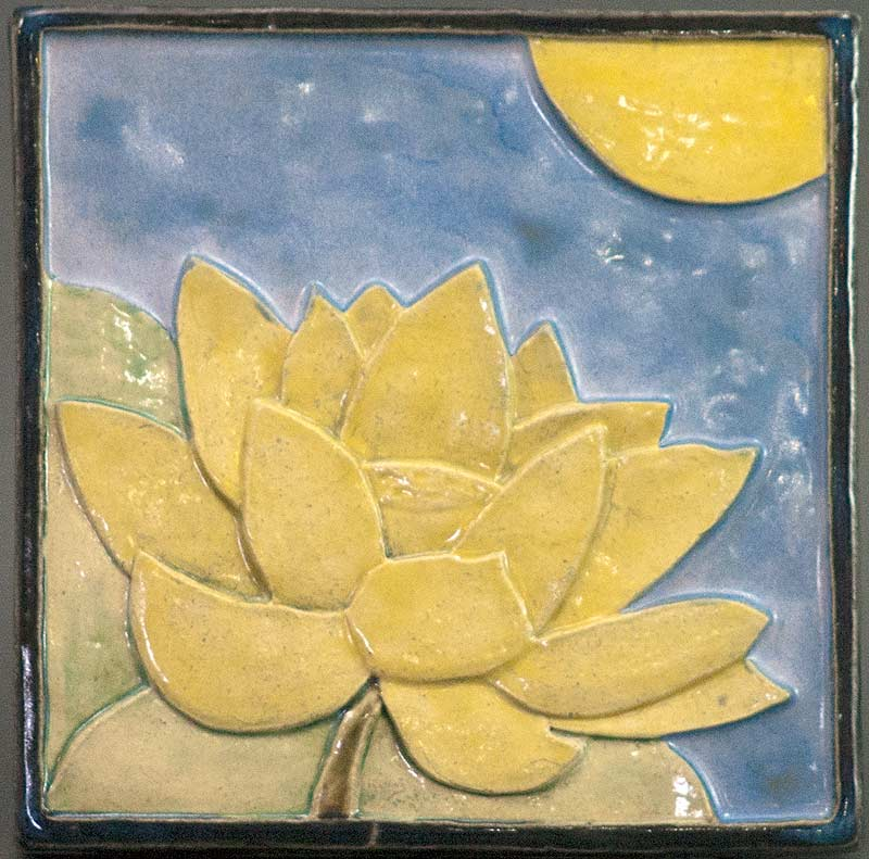 """Lotus"" - ceramic tile by Gregory Fields"
