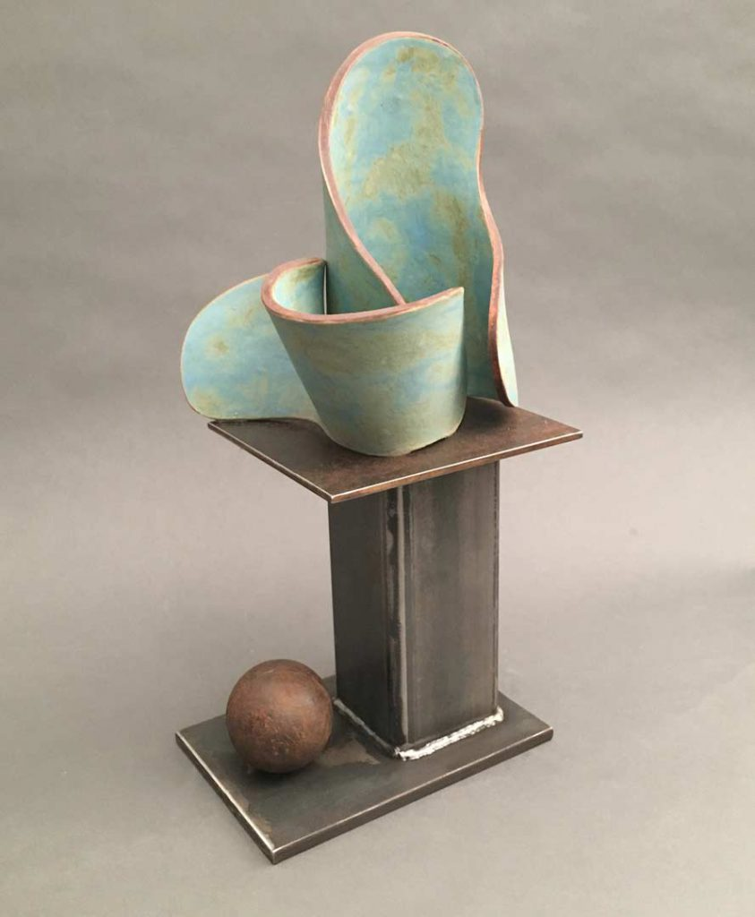 """Ball and Form"" - sculpture by Gregory Fields"