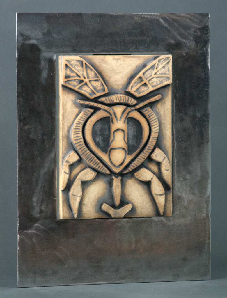 """Face of the Bee"" - wall sculpture by Gregory Fields"
