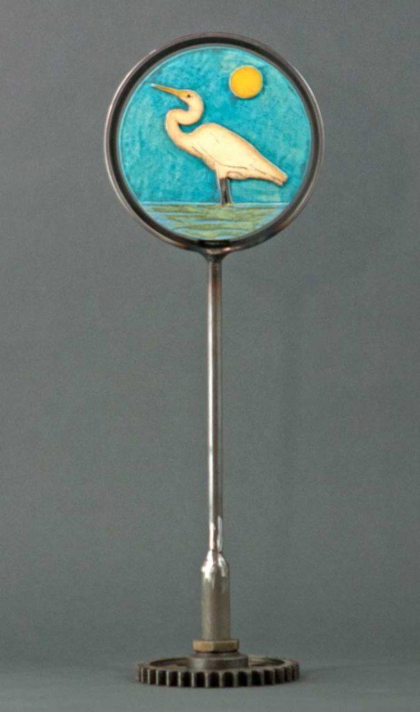 """Egret"" - sculpture by Gregory Fields"
