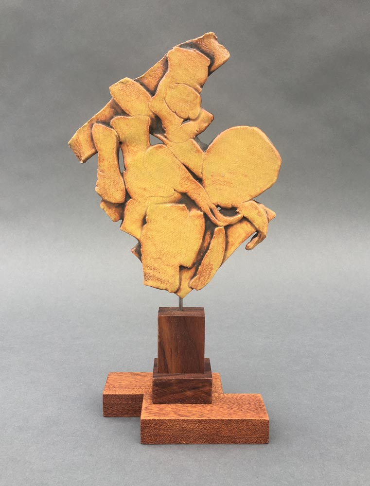 """Form in Yellow"" - sculpture by Gregory Fields"
