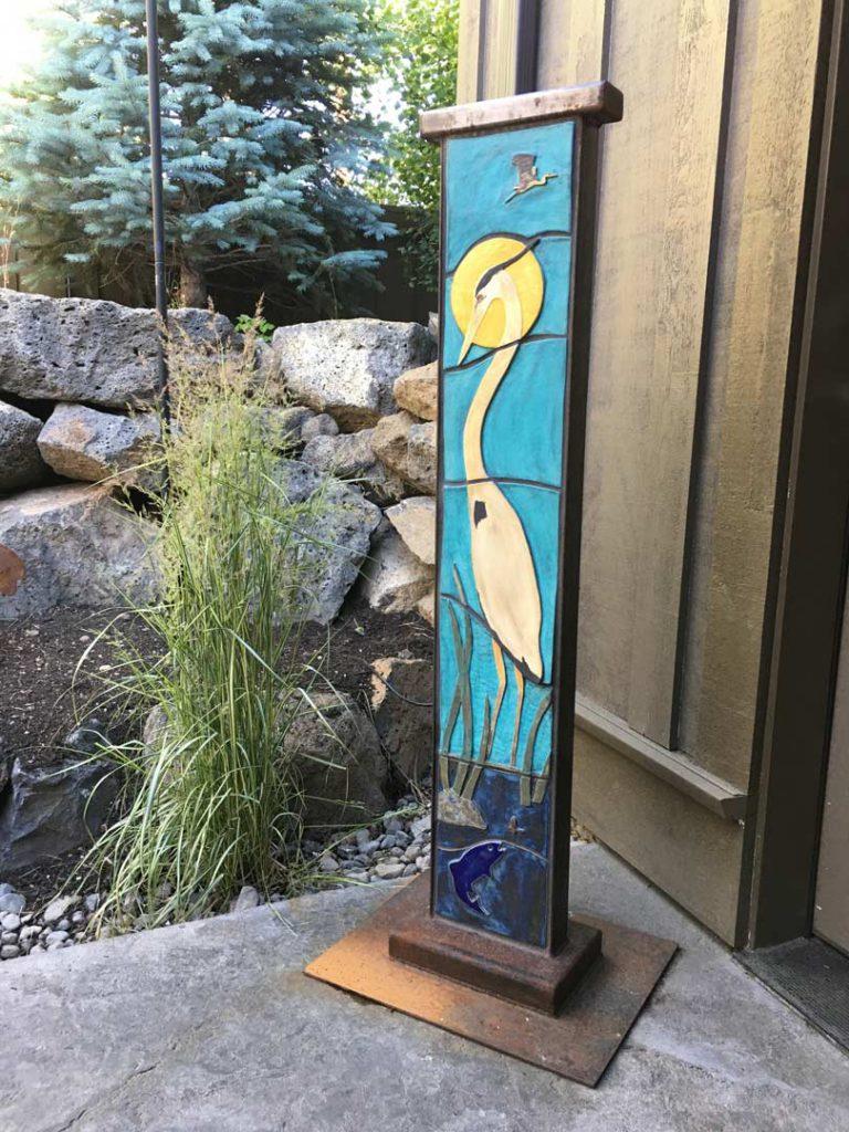 """Great Blue Heron"" - sculpture by Gregory Fields"