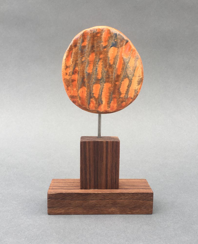"""Orange Sun"" - sculpture by Gregory Fields"