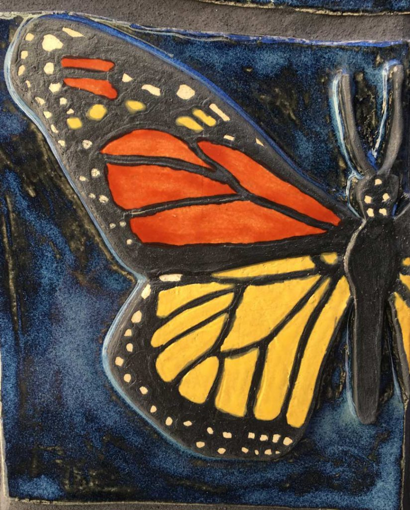 """Pollinators"" -Monarch butterfly detail - by Gregory Fields"