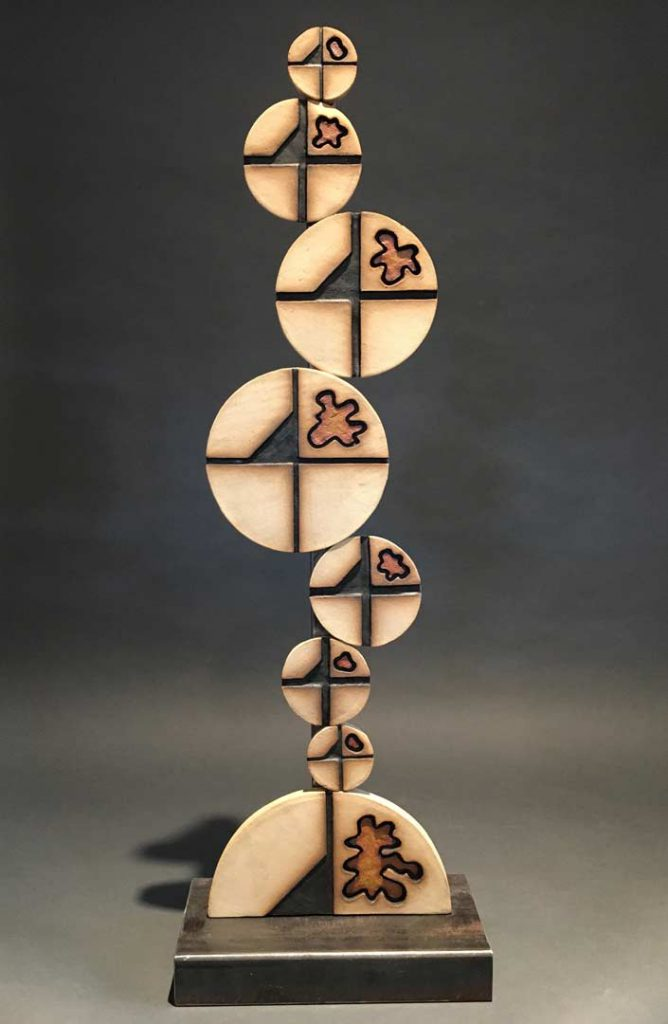 """""""Quarters"""" - sculpture by Gregory Fields"""