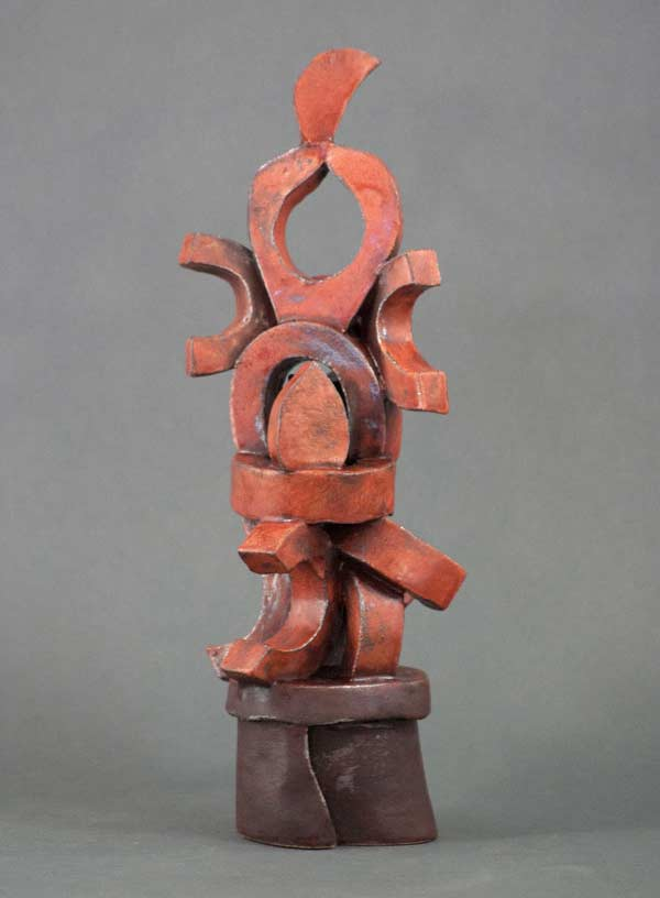 """Red Abstract"" - sculpture by Gregory Fields"