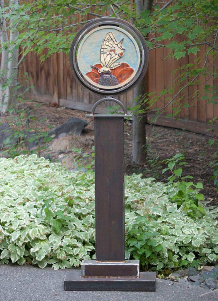 """Swallowtail Butterfly"" - sculpture by Gregory Fields"