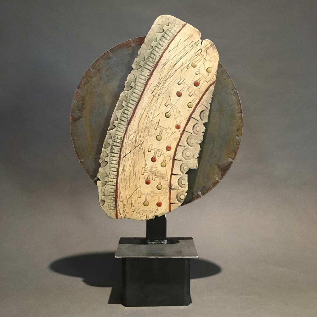 """""""Tracks"""" - sculpture by Gregory Fields"""