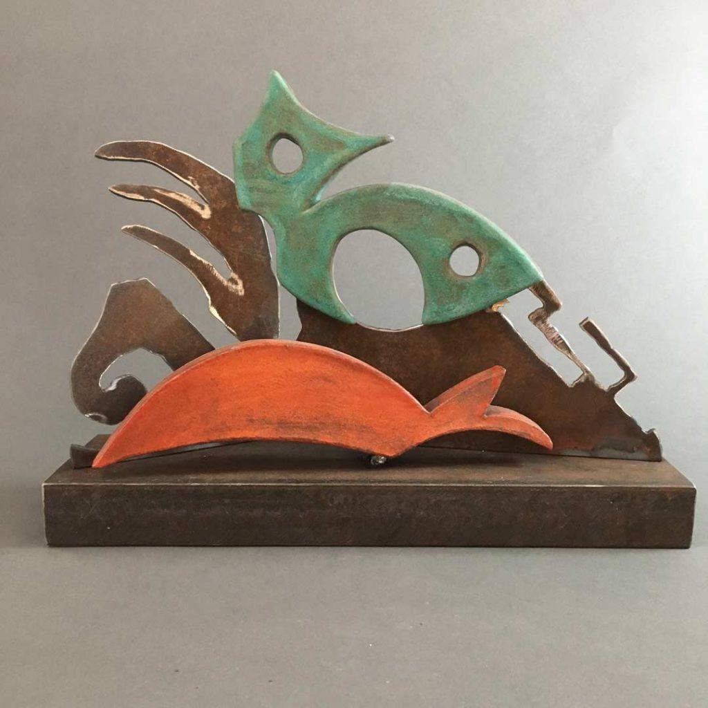 """Wetlands"" - sculpture by Gregory Fields"